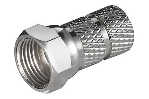 F-stik til 6,2 - 6,5 mm. kabel (RG-58/U)