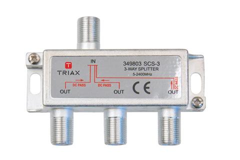 Triax 3-vejs antennefordeler