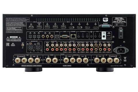 Rotel RAP-1580 MKII surround receiver, rear