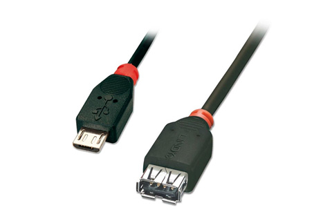 Lindy USB OTG 2.0 Kabel (Type Micro B - A)