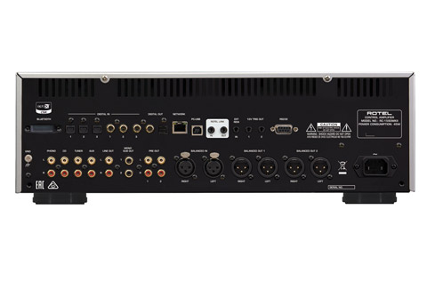 Rotel RC-1590MKII stereo preamplifier, rear