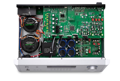 Rotel RC-1590MKII stereo preamplifier, inside