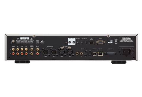Rotel RC-1572MKII stereo preamplifier, rear