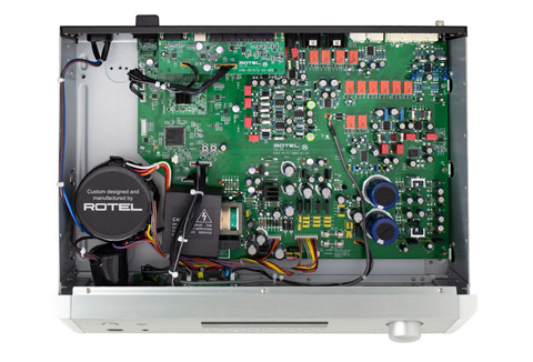 Rotel RC-1572MKII stereo preamplifier, inside