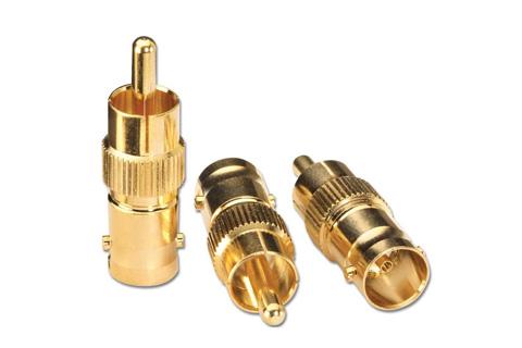 06-029 BNC - Phono adaptor, gold