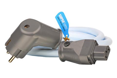 LoRad-strömkabel med vinklad Schuko-kontakt