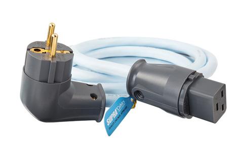 LoRad 16 A apparatkabel med vinklad Schuko-kontakt (3x 2,5 mm²)