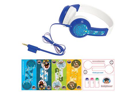 Buddy Phones Discover headphones, blue