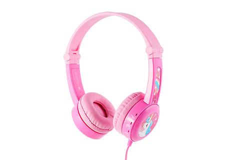 Buddy Phones Travel børnehovedtelefoner til rejser, pink