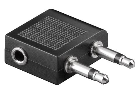 Fly adapter (2x 3.5 mm mono stik - 3.5 mm stereo jack)