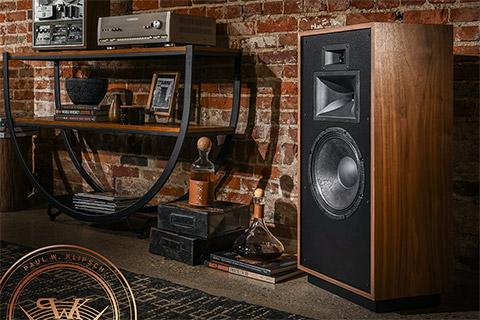 Klipsch Forte IV speaker, walnut
