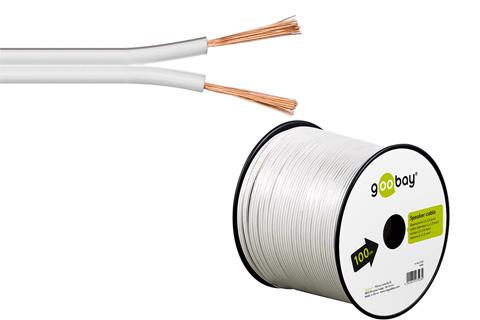 CCA Speaker cable white