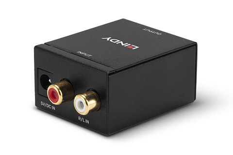 Lindy stereo to digital audio converter - Back