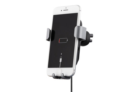Deltaco car charger with Qi (10W) - Charging