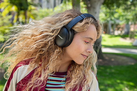 Bose Quiet Comfort 45 headphones, lifestyle