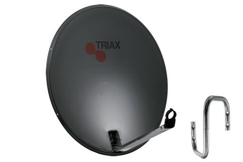 Kvalitets Triax parabolpakke velegent til 1 gr. vest (Thor) og 5 gr. øst (Sirius)
