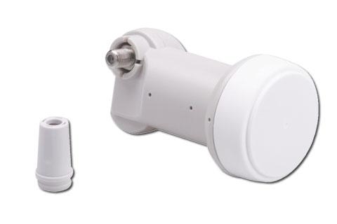 Triax TSI 006 Universal Single LNB i den kendte gode kvalitet fra danske Triax, med et egenstøjtal (NF) på typisk 0,3 dB.