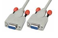 Null modem kabel på 2 meter fra Lindy i højkvalitet.