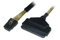 SAS kabel til forbindelse mellem SFF-8087 i en controller til SFF-8484 på en enhed.