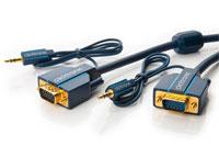 Clicktronic Casual VGA monitorkabel med 3.5 mm jack (HD15 han - han), 2.00 meter