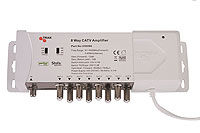 Proffesional 8-way amplifier with active returnpath. Perfect for Cable TV installation.
