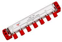 Triax High-End 6-vejs antennefordeler i HF tæt klasse A+ kvalitet. Ideelt til din antenneinstallation hvor høj skærmning og lav dæmpning er ønsket.