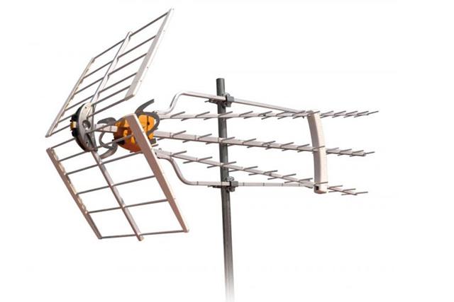 LTE godkendt DVB-T antenne med 75 elementer. 19 dB (passiv), 34 dB (aktiv) forstærkning med Boss teknik.