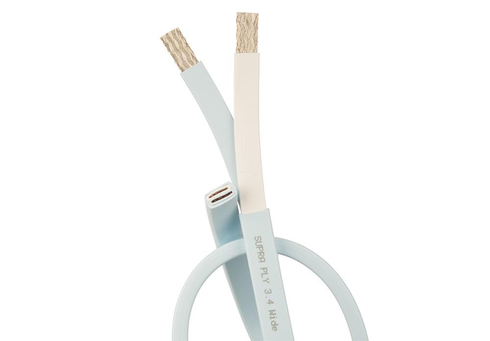 Hele ruller af SUPRA Cables PLY højttalerkabel i forskellige kabeltykkelser, versioner og farver.