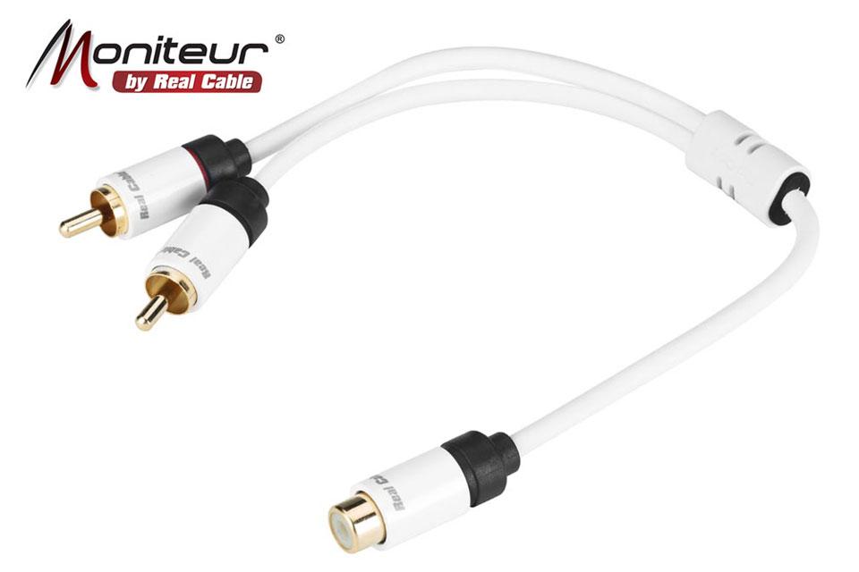 Kvalitets Y-Split adapter, perfekt til brug med f.eks. subwoofere.