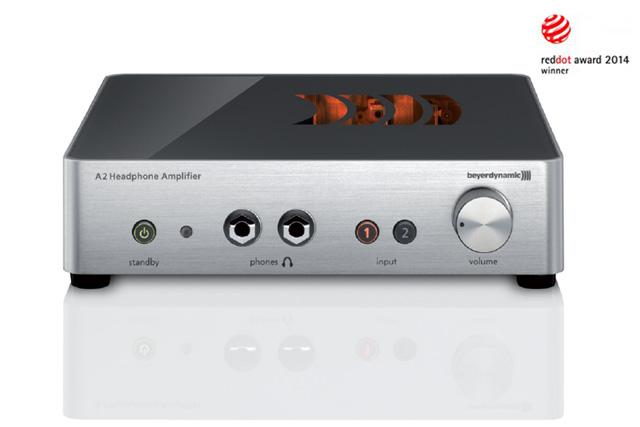 Award vindende Beyerdynamic A 2 audiophile high-end hovedtelefonforstærker designet i høj kvalitet. Kan betjene op til to hovedtelefonerpå samme tid