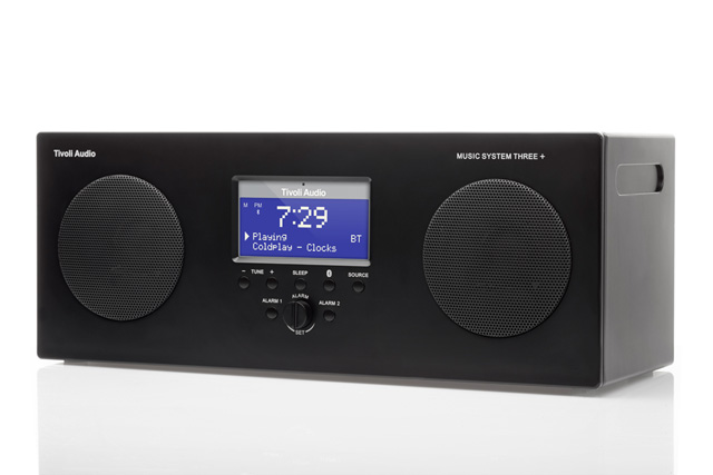 Tivoli Audio Music System THREE+ transportabelt musik system med Bluetooth streaming, FM og DAB+ Radio - Specialt anbefalet testvinder