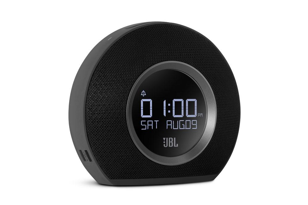 Med JBL Horizon-clockradioen begynder din dag med JBL-stereolyd, der udfylder hele lokalet, beriget med den stemningsfulde glød fra LED-lamperne.