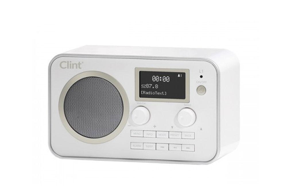 Moderne DAB+/FM radio med bluetooth for nem streaming af musik fra smartphone. Perfekt til køkkenet eller badeværelset.
