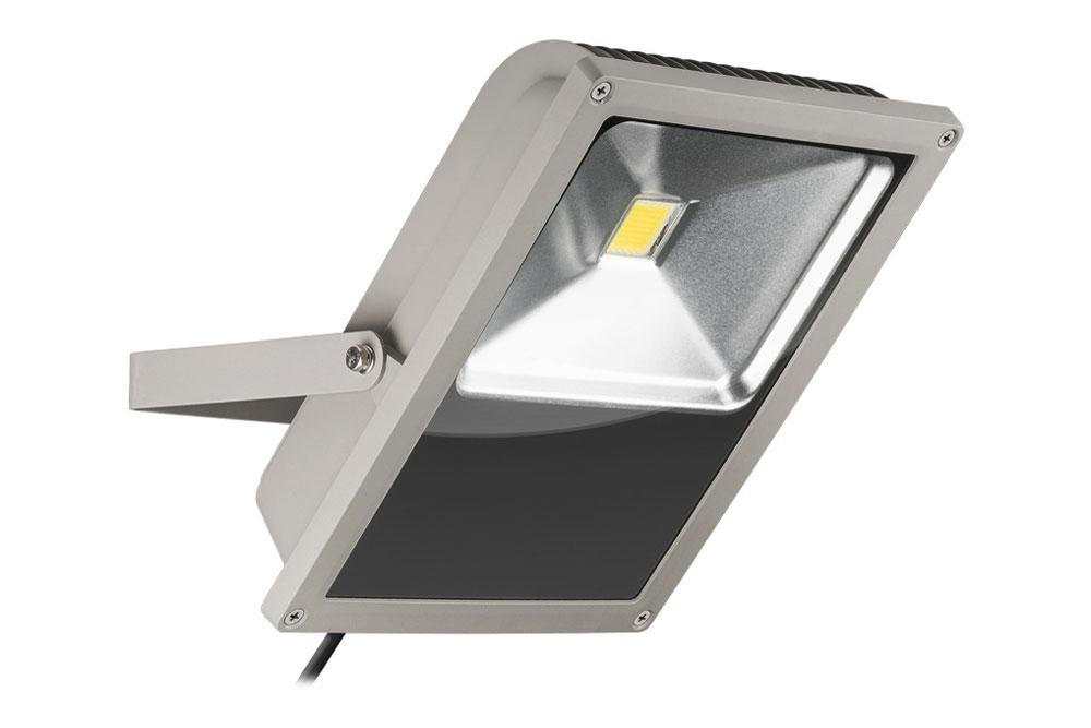 LED Projektør på 75W kold hvid 6000K med 5000 lumens - Svarer til en almindelig halogen-projektør på ca. 300 watt