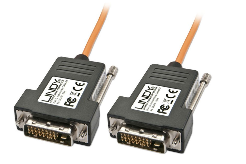 Lindy DVI kablerne er en serie helt specielle single link DVI-D hybridkabler til ekstra lange afstande.