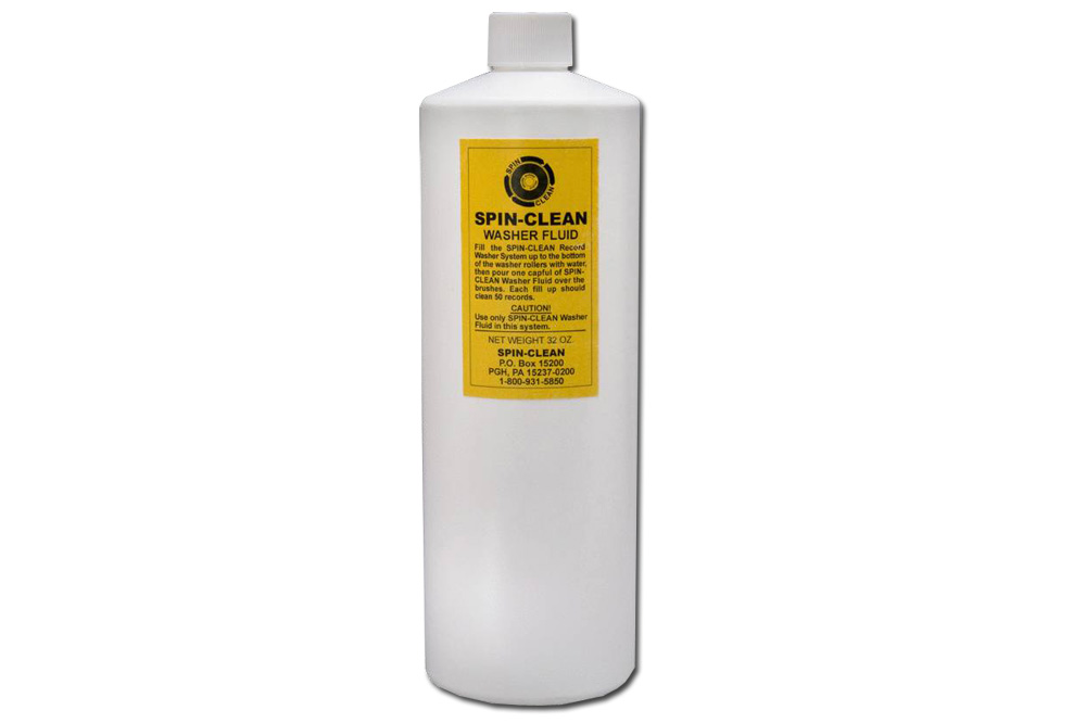 Spin-Clean Washer Fluid MKII 32 oz - Ekstra rensevæske til Spin-Clean Record Washer (ca. 950ml), nok til rengøring af rigtig mange plader.