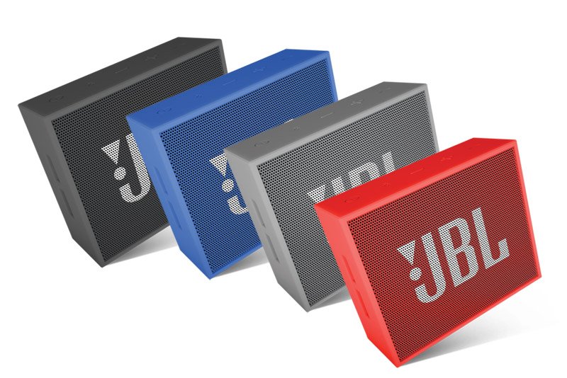 The JBL GO portable Bluetooth speaker will excite you with JBL quality sound, five-hour rechargeable battery, and noise-cancelling speakerphone