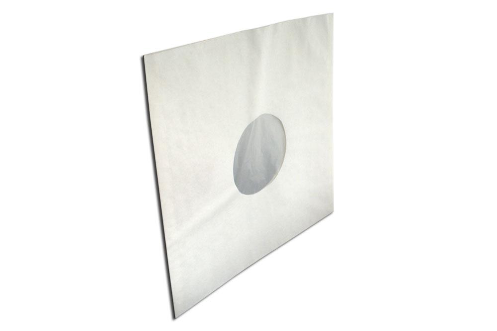 LP inner sleeve i hvid papir med en antistatatisk HD-Polyethylen plast foring, størrelsen er 305x309 mm - Beskyttelseslommer til 12
