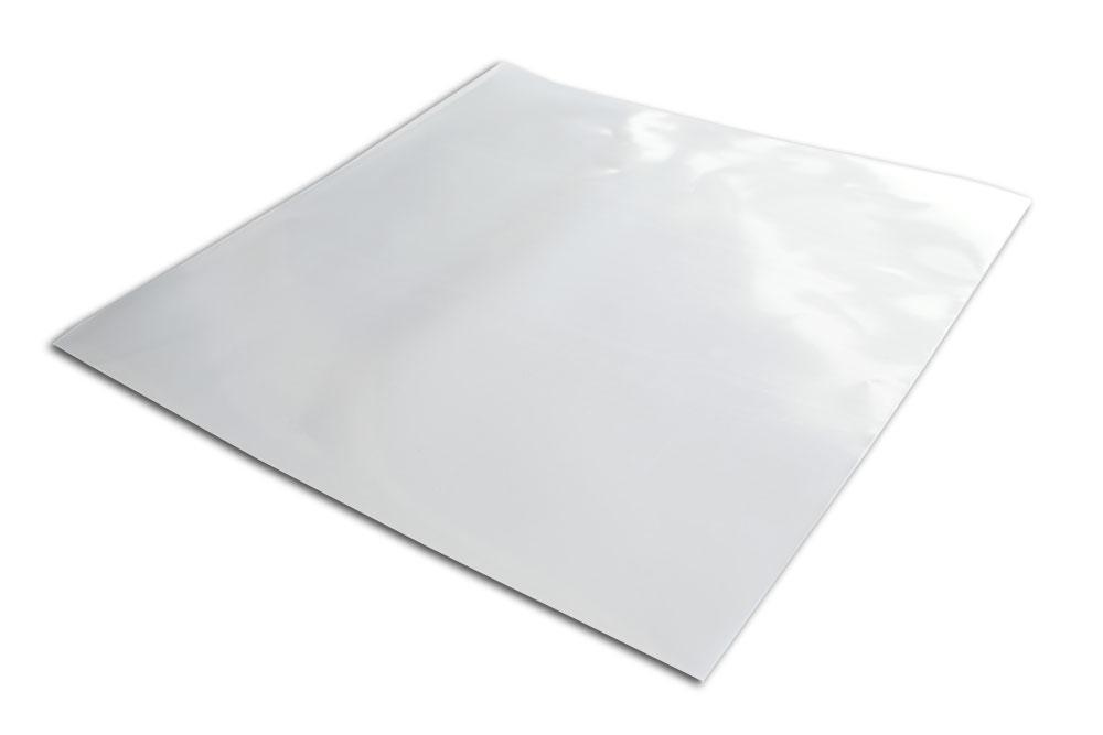 LP outer sleeve i kraftig transparent 0,15 mm polyethylen plast, størrelsen er 325x325 mm - Beskyttelseslommer til gatefold og 12