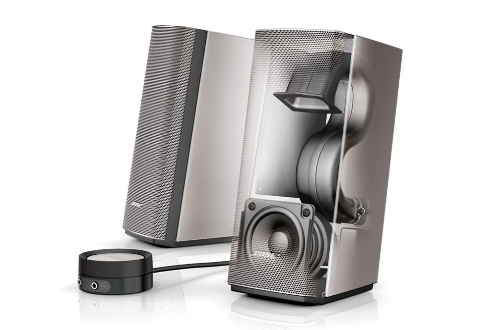Bose Companion 20 er i stand til at levere en fyldig og naturlig lyd, der ikke kun giver god lyd foran computeren, men i hele rummet.