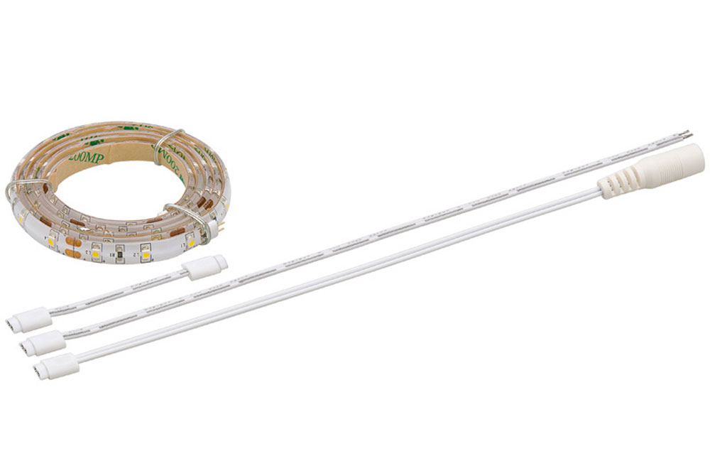 LED bånd med selvklæbende bagside for nem installation. Flex system for let sammenkobling.