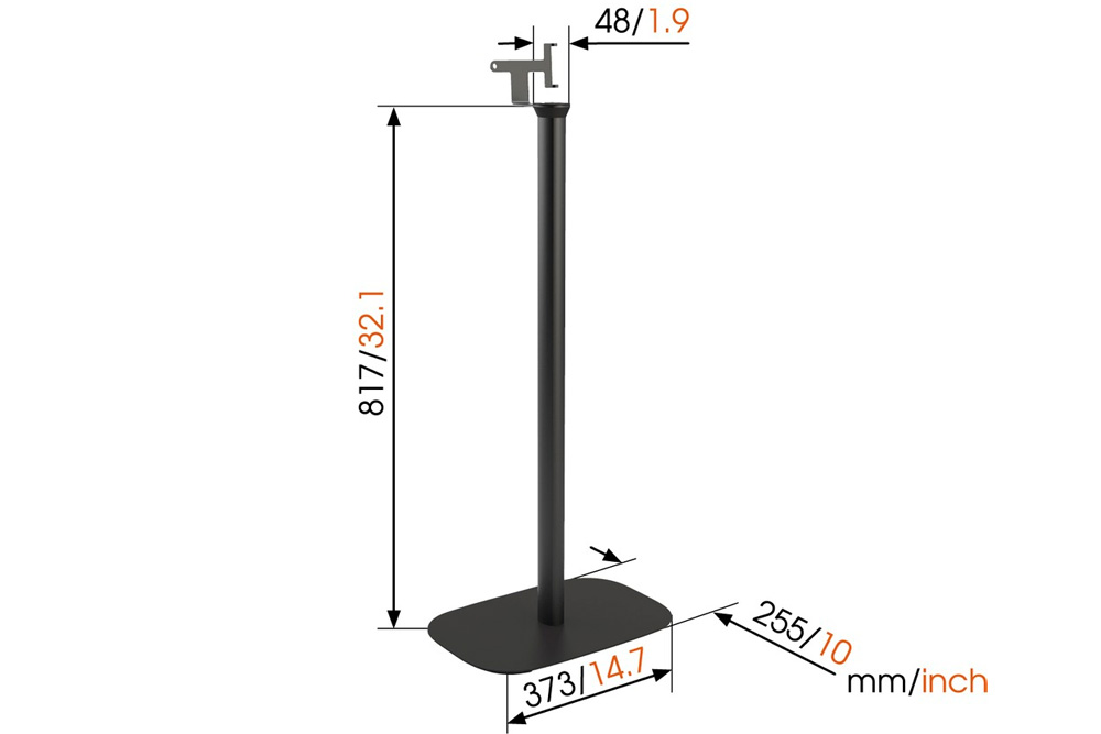 vogels sound 4303 floor stand for sonos play3
