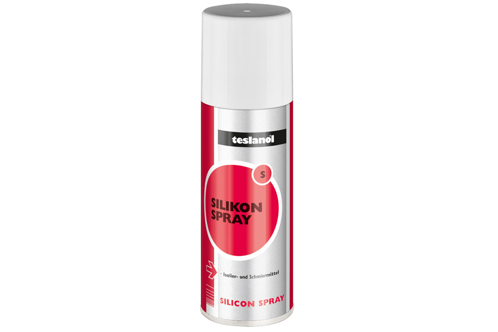 Teslanol S vandafvisende silikonespray til at smøre og beskytte komponenter i plastik eller gummi. Smører mekaniske komponenter og forebygger knirken.