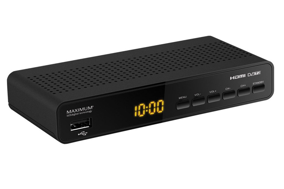 Smart lille DVB-T/T2 modtager boks med MPEG4, dog kun til gratis kanaler, da den ikke har nogen kortlæser - til gengæld er den også meget billig.