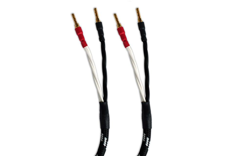 In-akustik Referenz LS-502 Single-wire højttalerkabel afsluttet med bananstik i begge ender.
