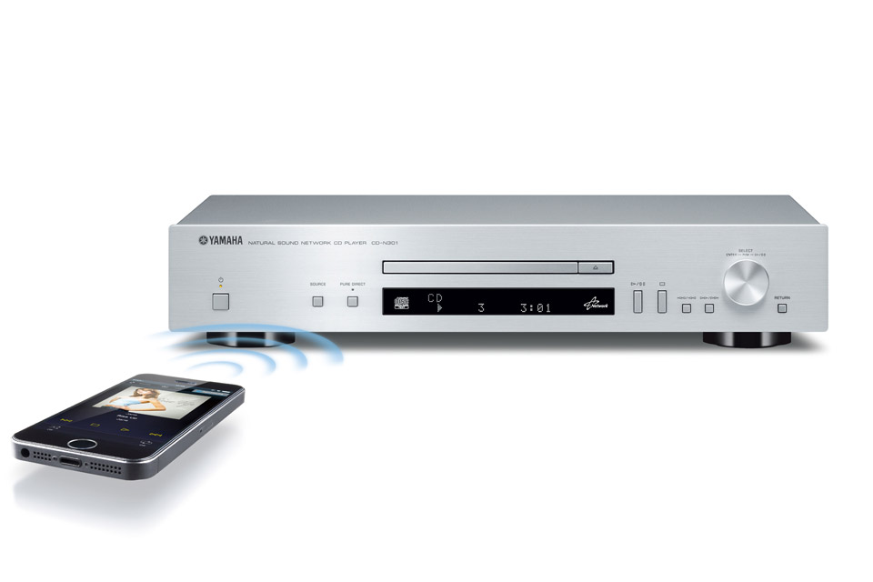 Basic CD player with audio network capabilities. Support for AirPlay and the streaming services of Spotify.