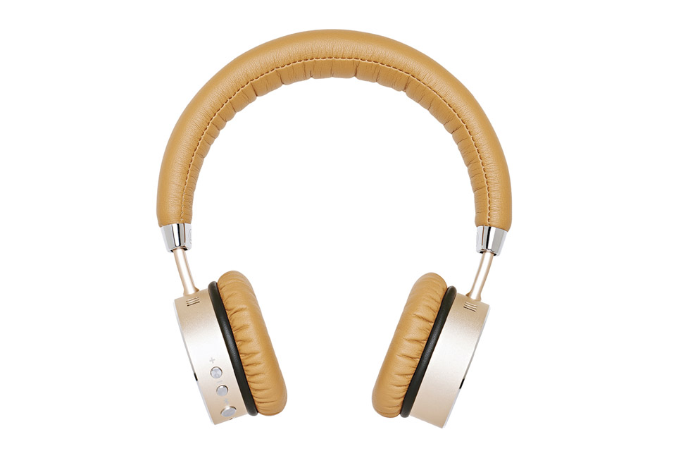 Sackit WOOFit bluetooth headphones, golden