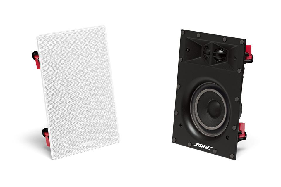 Bose rektangulær Virtually Invisible 691 væghøjttaler til indbygning med 12,7 cm basenhed - Elegant og diskret design med vanlig stor Bose lyd
