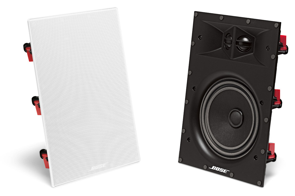 Bose rektangulær Virtually Invisible 891 væghøjttaler til indbygning med 17,8 cm basenhed - Elegant og diskret design med vanlig