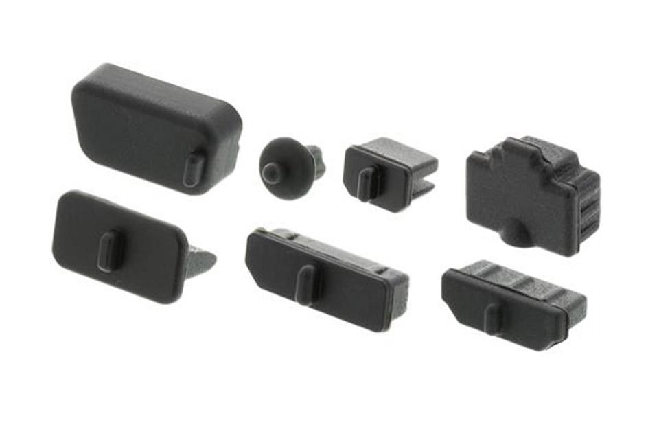 Støvbeskyttelse i gummi, perfekt til at dække tilslutninger som ikke bruges eller for at beskytte tilslutninger i udsatte miljøer. 7 x 10 stk.